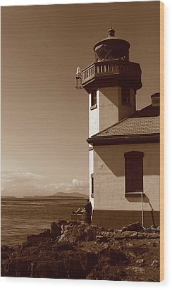 Wood Print featuring the photograph Lighthouse San Juan by Lorraine Devon Wilke