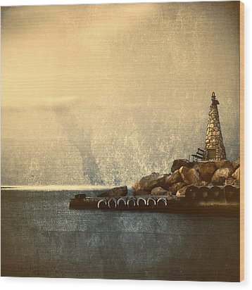 Lighthouse Wood Print by Stelios Kleanthous