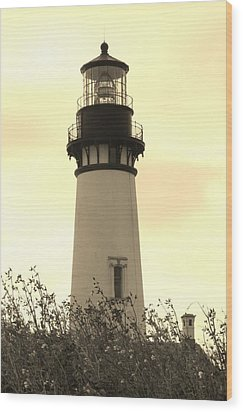 Lighthouse Tranquility Wood Print by Athena Mckinzie