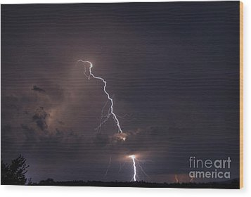 Wood Print featuring the photograph Lighting  by Alana Ranney