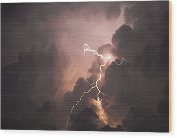 Lightning Man Wood Print by Paul Madura