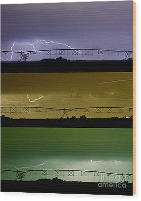 Lightning Warhol  Abstract Wood Print by James BO  Insogna