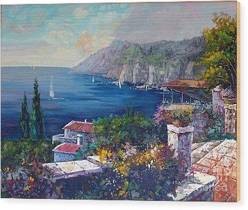 Like A Fairytale - Detail One Wood Print by Kostas Dendrinos
