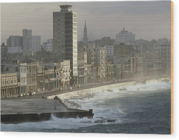 Like A Reef Built On Havanas Shore Wood Print by James L. Stanfield