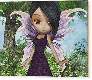 Lil Fairy Princess Wood Print by Alexander Butler