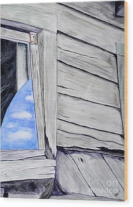 Lil House Wood Print by Art Hill Studios