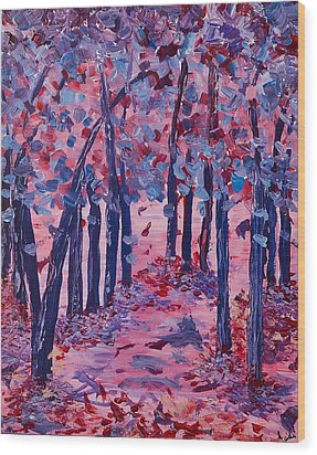 Wood Print featuring the painting Lilac Avenue by Judi Goodwin