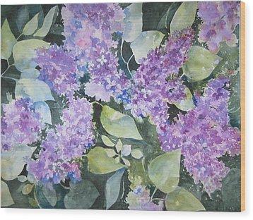 Lilacs Wood Print