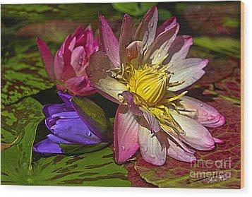 Lilies No. 20 Wood Print by Anne Klar