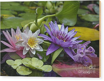 Wood Print featuring the photograph Lilies No. 26 by Anne Klar