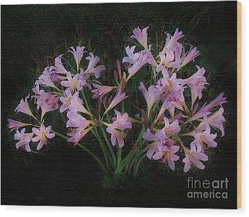 Liliies In The Valley Wood Print by Marsha Heiken