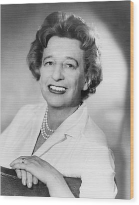 Lillian Hellman 1905-1984 Dramatist Wood Print by Everett