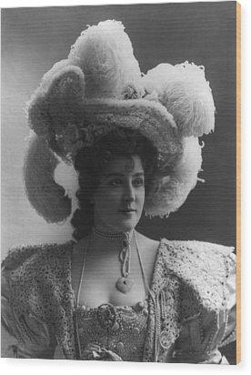 Lillian Russell 1861-1922, American Wood Print by Everett