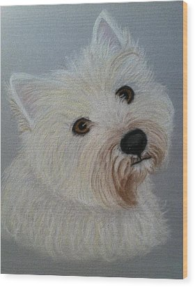 Lilly A Pastel Portrait Wood Print by Hillary Rose