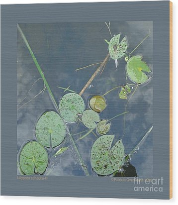 Lillypads At Keuka-iii Wood Print by Patricia Overmoyer