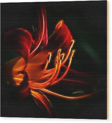 Wood Print featuring the photograph Lily Flame by Joetta West