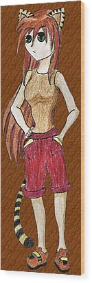Lily Foxtail Wood Print by April McCallum