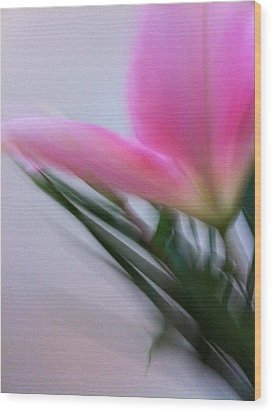 Lily In Motion Wood Print