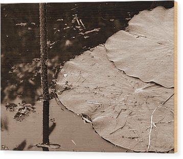 Lily Pad Wood Print by Nawarat Namphon