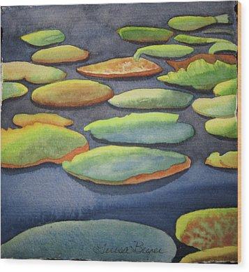 Lily Pad Wood Print by Teresa Beyer