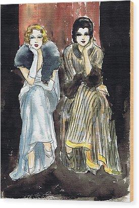 Lilyan And Kay 2 Wood Print by Mel Thompson