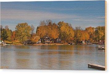 Lime Lake Wood Print