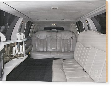 Limousine Interior Wood Print by Andersen Ross