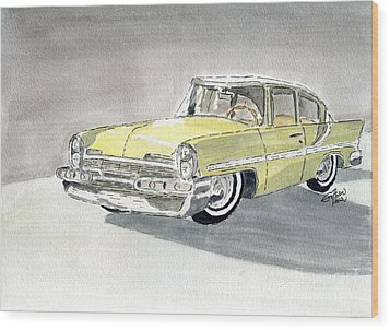 Lincoln Capri 1957 Wood Print