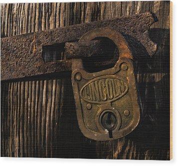 Lincoln Lock Wood Print