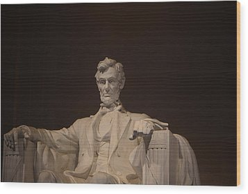 Lincoln Memorial 002 Wood Print by George Bostian
