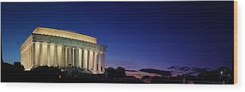 Lincoln Memorial At Sunset Wood Print by Metro DC Photography