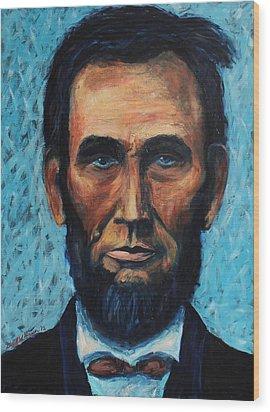 Lincoln Portrait #4 Wood Print by Daniel W Green