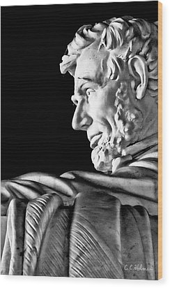 Lincoln Profile Wood Print by Christopher Holmes