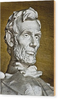 Lincoln Profle 2 Wood Print by Christopher Holmes