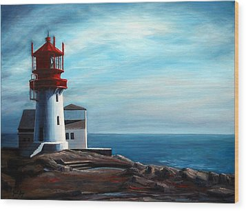 Lindesnes Lighthouse Wood Print by Janet King