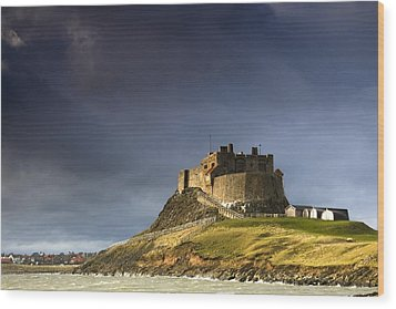 Lindisfarne Castle On A Volcanic Mound Wood Print by John Short