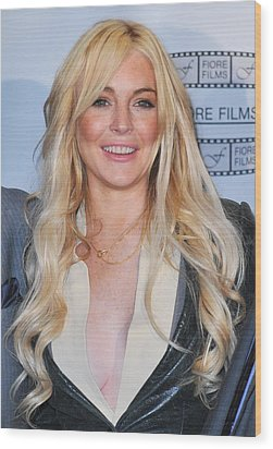 Lindsay Lohan In Attendance For Gotti Wood Print by Everett