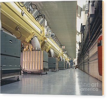 Linear Accelerator Linac Wood Print by Science Source