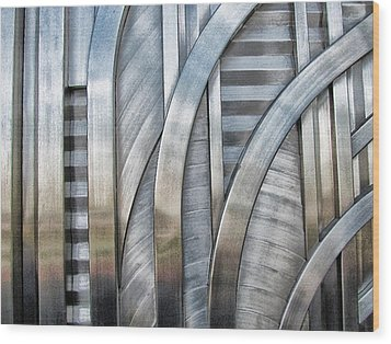 Wood Print featuring the photograph Lines And Curves by Tammy Espino