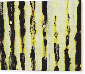 Lines Of Rust Wood Print by Jason Michael Roust
