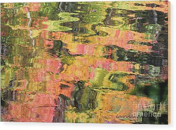 Liquid Colors Wood Print by Laurinda Bowling