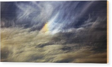 Wood Print featuring the photograph Liquid Sky by Sandro Rossi
