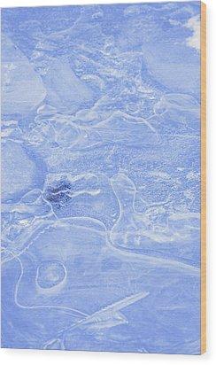 Liquid Texture Wood Print by Carson Ganci