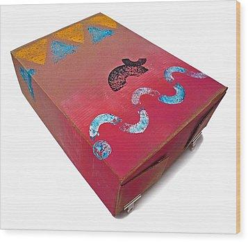 Little Big Horn Box Wood Print by Charles Stuart