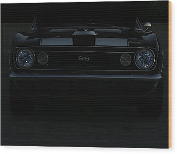 Little Black Camaro Wood Print