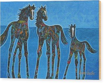Little Blue Wood Print by Lance Headlee