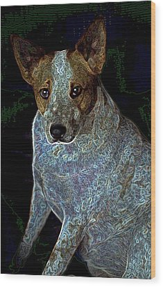 Little Blue Wood Print by One Rude Dawg Orcutt