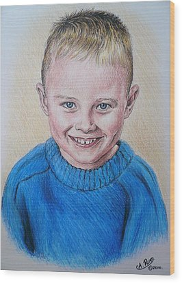 Little Boy Commissions Wood Print by Andrew Read
