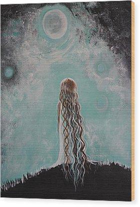 Little Galaxie Wood Print by Leslie Allen