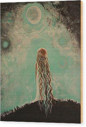 Little Galaxie One Wood Print by Leslie Allen